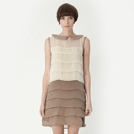 Dear Creatures - Piper Dress - Cream/Taupe
