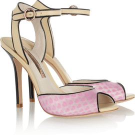SOPHIA WEBSTER - Lula hologram vinyl and leather sandals