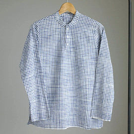 YAECA - Kultur Shirt #blue check/khadi