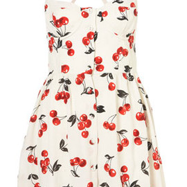 TOPSHOP - Cherry Glitter Sun Dress