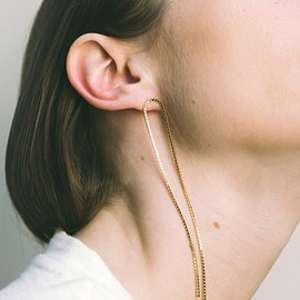 Saskia Diez - GOLD OPEN FRINGE EARRINGS