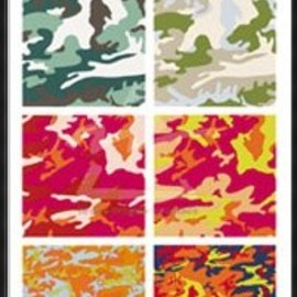 Andy Warhol - Framed Framed Camouflage - Andy Warhol