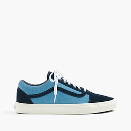 VANS, J.CREW - Vans for J.Crew Old Skool sneakers in suede (dress blues)