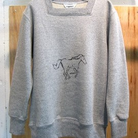 DIGAWEL - DIGAWEL  SQUARE NECK SWEAT(GRAY)