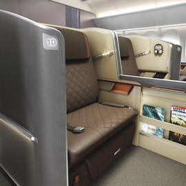 New First Class Double Bed Seats, Airbus A380