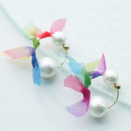 youuumucouture - rainbowflower earring