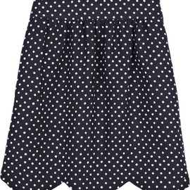 Chloe - Chloe Scalloped polka dot skirt