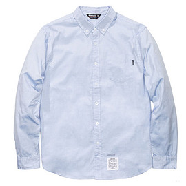 UNDEFEATED - L/S Oxford Shirt - Blue