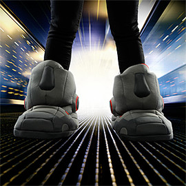 Think Geek - Giant Robot Slippers with Sound