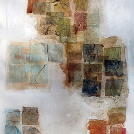 Scott Bergey - Control, mixed media, collage on paper