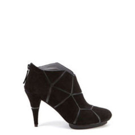 UNITED NUDE - Mosaic Hi Black Kid Suede + PU