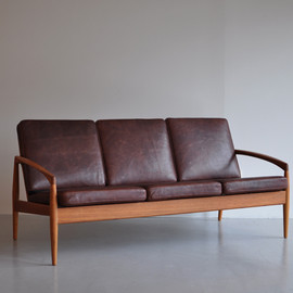 Paper Knife Sofa 3seat (black cherry x beige)