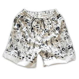 NADA. - Origainal silk print easy shorts / White
