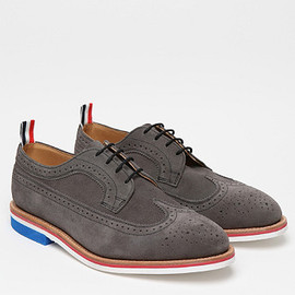Thom Browne - Wingtip Brogue with Micro Sole in Grey