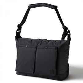 "HEAD PORTER - ""BLACK BEAUTY"" SHOULDER BAG (L)"