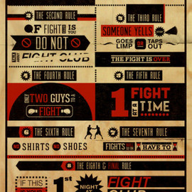 Fight Club - Rules Poster