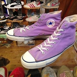 "converse - 「<used>80's converse ALLSTAR HI lilac""made in USA"" size:US13(31.5cm) 14800yen」販売中"