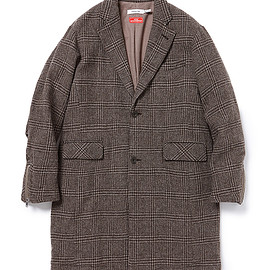 nonnative - OFFICER COAT WOOL GLEN PLAID WITH WINDSTOPPER® 2L