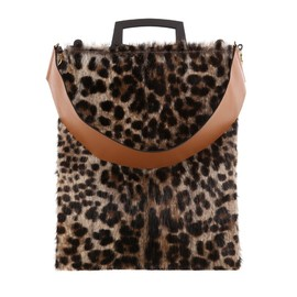 """GIVENCHY - FW2014 """"Rave"""" large leopard-print dyed muskrat bag"""
