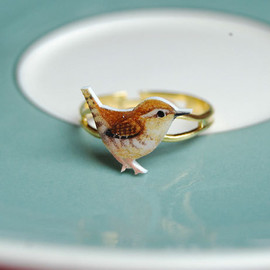 kirstinstride - Hand drawn Wren ring