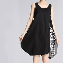 MaLieb - Sweet taste/ Summer Asymmetry Bud Tank dress