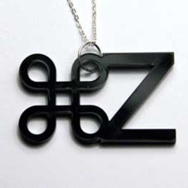 apple / ctrl-z / undo acrylic necklace