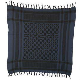 HUMANADE - Squiggle Shemagh Scarf(BL)