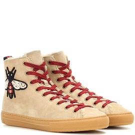 GUCCI - Suede high-top sneakers