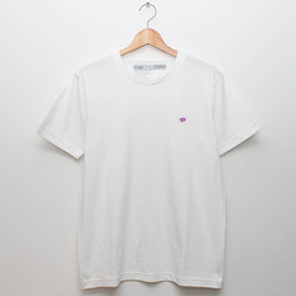 cup and cone - Embroidery Tee - White x Grape