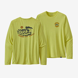 patagonia - Men's Long-Sleeved Capilene® Cool Daily Graphic Shirt - Bison Stampede: Chartreuse X-Dye (BSCX)