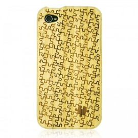 ohneed - White Bamboo IPhone4/4S Case- Carved Puzzle