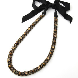 LANVIN - Necklace with Black Ribbon
