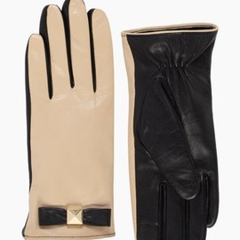 kate spade - pyramid bow leather glove