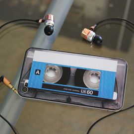 bipbopshop - Blue Cassette Decal for iPhone 4