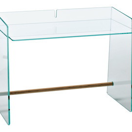 "Jasper Morrison - Glass ""Pirandello"" Desk, Glas Ittalia"