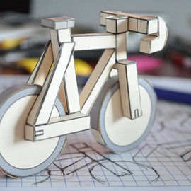 Paperbikes - paperbikes v2 - fixed gear paper bike