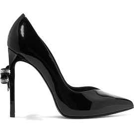 Saint Laurent - Bow-embellished patent-leather pumps