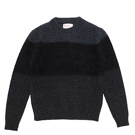 Corgi - Geelong Mohair Mix Pullover-Charcoal×Black