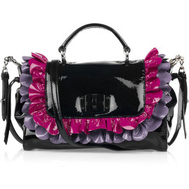 miu miu - Patent-leather ruffle bag