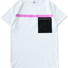 TOGA ODDS&ENDS - Rubber Pocket Tee (pink)