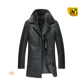 CWMALLS - Mens Black Winter Leather Coats CW877180
