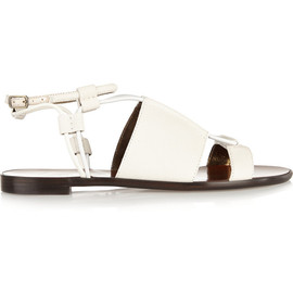 LANVIN - Textured-leather sandals