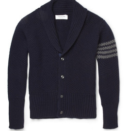 THOM BROWNE - CHUNKY-KNIT CASHMERE CARDIGAN