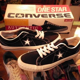 "converse - 「<used>90's converse ONESTAR CANVAS OX black""made in USA"" size:US9(27.5cm) 14800yen」完売"