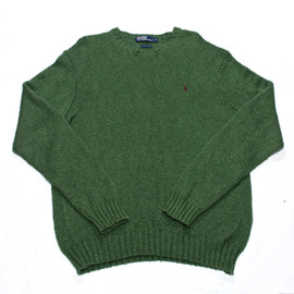 POLO RALPH LAUREN - Vintage Polo by Ralph Lauren Green Sweater Mens Size XL