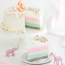 Pastel Sprinkles Birthday Cake