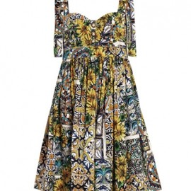 DOLCE & GABBANA - print dress