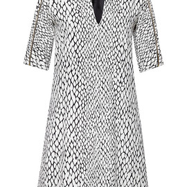BOUCHRA JARRAR - SS2015 Python Printed Cotton Dress