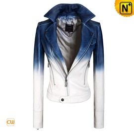 CWMALLS - Women Cropped Leather Motorcycle Jacket CW608335 - cwmalls.com