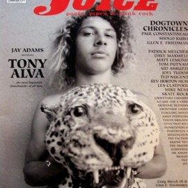 JUICE Magazine - TONY ALVA cover, # 55
